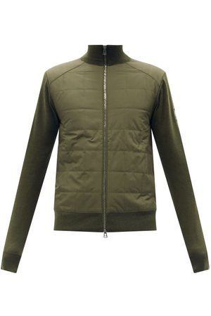 Belstaff New Kelby Quilted-shell And Wool Cardigan - Mens - Khaki