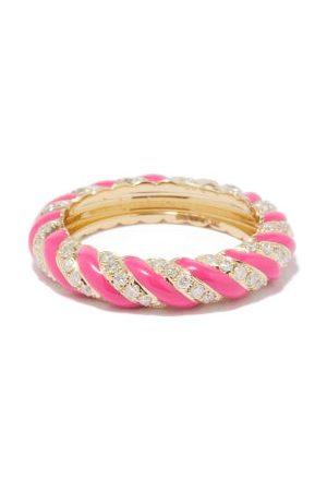 YVONNE LÉON Diamond, Enamel & 9kt Gold Ring - Womens