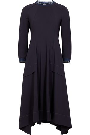 High Devotee navy stretch-jersey midi dress