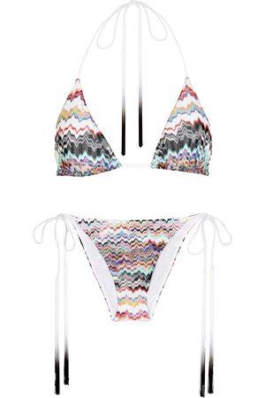 Missoni Women Bikinis - Zigzag fine-knit bikini