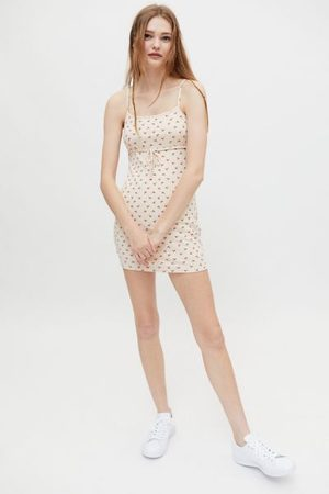 Urban Outfitters UO Caroline Knit Tie-Front Mini Dress