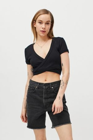 Urban Outfitters UO Karlie Waffle Wrap Top