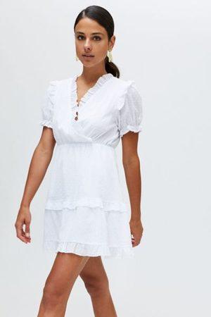 Urban Outfitters UO Jenna Swiss Dot Mini Dress