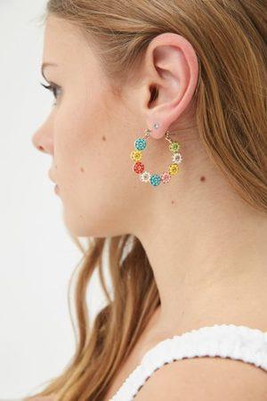 Urban Outfitters Stephanie Floral Hoop Earring