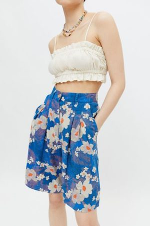 Urban Outfitters UO Leilani Pleated Bermuda Short