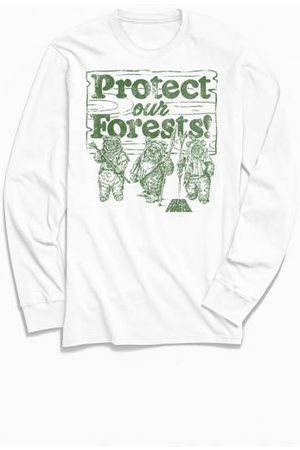 Urban Outfitters Star Wars Ewoks Protect Our Forests Long Sleeve Tee