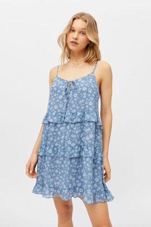 Dress Forum Tie-Front Tiered Mini Dress