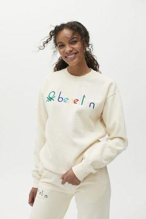 Benetton Solid Crew Neck Sweatshirt