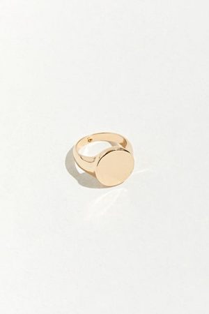 Urban Outfitters Round Signet Ring
