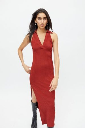 Urban Outfitters UO Jada Ribbed Bodycon Midi Dress