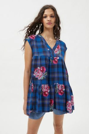 Urban Outfitters UO Gretta Embroidered Frock Dress