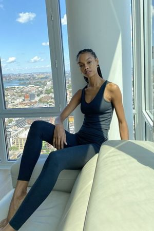 Beyond Yoga Heather Ribbed High-Waisted Midi Legging