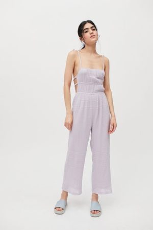 Urban Outfitters UO Courtney Tie Shoulder Jumpsuit