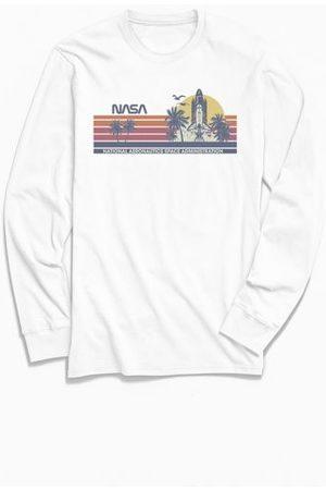 Urban Outfitters NASA Rocket Launch Stripe Long Sleeve Tee