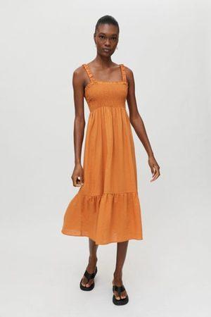 Urban Eco Linen Smocked Dress