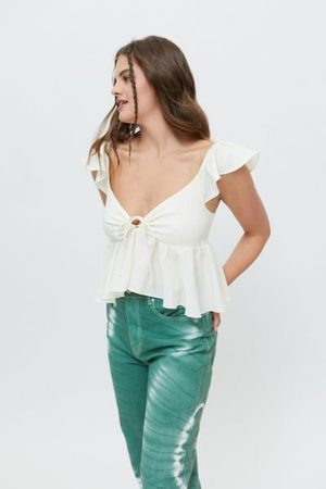 Urban Outfitters UO Sierra Keyhole Babydoll Blouse