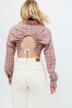 Urban Recycled Keyhole Back Flannel Shirt