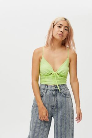 Urban Outfitters UO My Sweetheart Mesh Tie-Front Cami