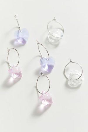 Urban Outfitters Krystal Charm Hoop Earring Set