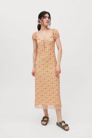 Motel Windy Floral Midi Dress