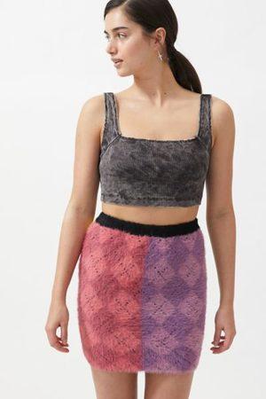 The Ragged Priest Peep Knit Mini Skirt