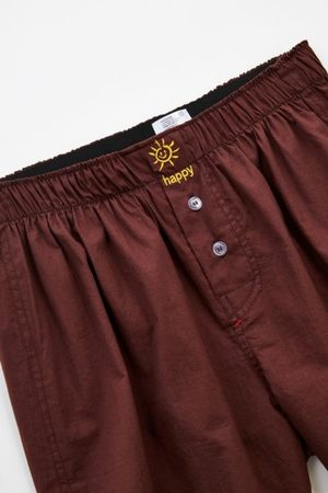 Urban Outfitters Happy Face Sun Icon Woven Boxer Short