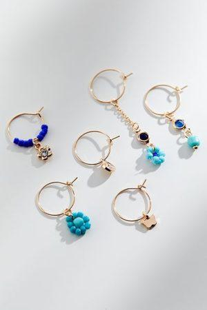 Urban Outfitters Lyra Beaded Mismatch Hoop Earring Set