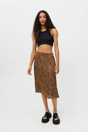 Dress Forum Animal Print Midi Skirt