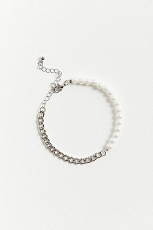 Urban Outfitters Pearl & Chain Bracelet