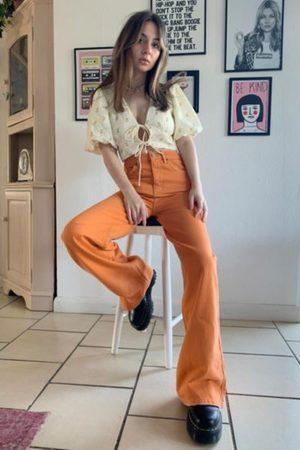 BDG Tangerine Wide-Leg Puddle Jean