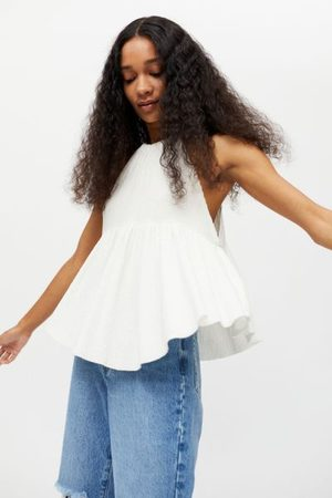 Urban Outfitters UO Klara High-Neck Babydoll Tunic Top