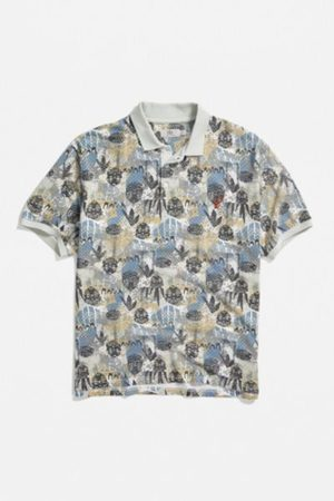 Urban Outfitters UO Printed Pique Polo Shirt