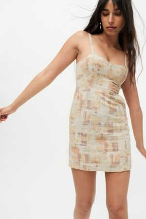 Urban Outfitters UO Sweet On You Linen Mini Dress