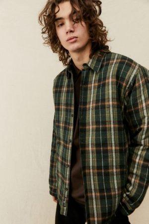 BDG Olive Plaid Shirt Jacket