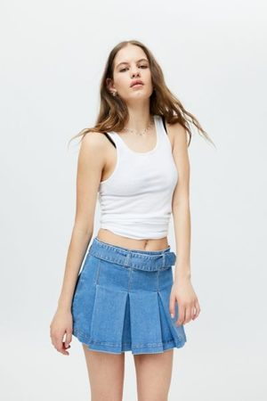 Miss Sixty UO Exclusive Denim Pleated Kilt Skirt
