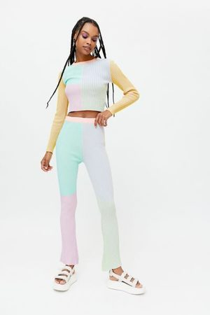 The Ragged Priest Ribbed Flare Pant