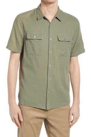 Vince Men's Double Face Short Sleeve Button-Up Shirt
