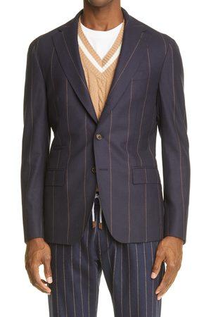 ELEVENTY Men's Pinstripe Wool & Cashmere Sport Coat