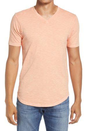 miss goodlife Men's Scallop Short Sleeve V-Neck T-Shirt