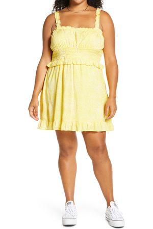 BP. Plus Size Women's Ruffle Detail Sleeveless Minidress