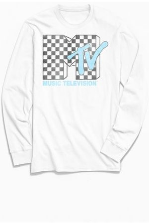 Urban Outfitters MTV Checkerboard Logo Long Sleeve Tee