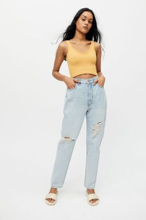 BDG High-Waisted Mom Jean - Ripped Light Wash