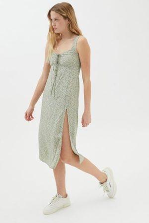 Motel Jorie Tie-Front Midi Dress