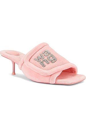 Alexander Wang Jessie Padded Logo Sandal in