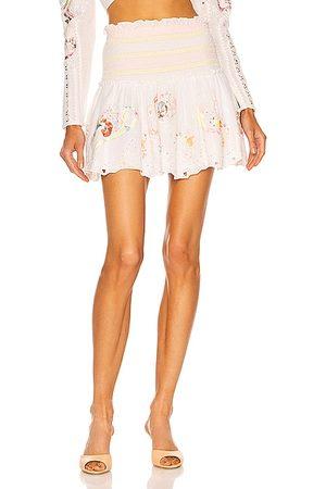 HEMANT AND NANDITA Cora Mini Skirt in White