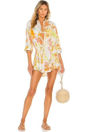 L*Space Pacifica Tunic in White,Yellow.