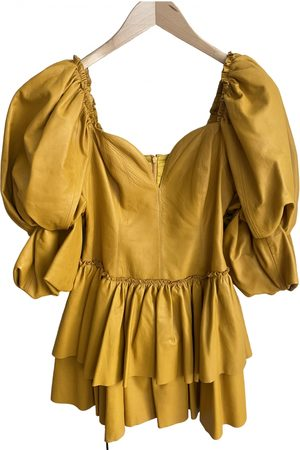 AJE Leather mini dress