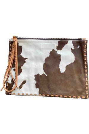 ELENA GHISELLINI Pony-style calfskin clutch bag