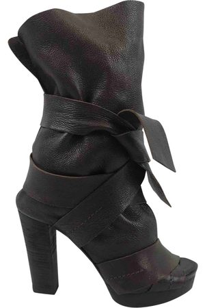 Chloé Leather open toe boots