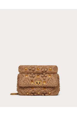 VALENTINO GARAVANI Women Shoulder Bags - Large Cashmere Roman Stud The Shoulder Bag With Chain Women 100% Cashmere OneSize